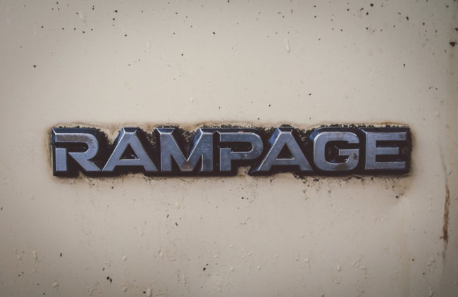 Rampage by Mako Miyamoto Travel and Lifestyle Photography metal typography car
