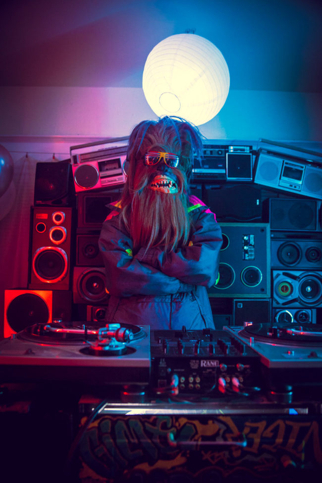 DJ Hairy Mako Miyamoto Photography Lifestyle Wookie Star Wars Chewbacca Chewy Bigfoot party music