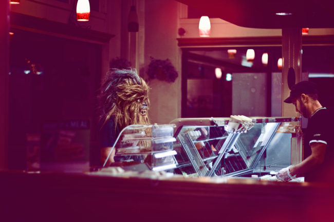 Animal Style Mako Miyamoto Photography Lifestyle Wookie Star Wars Chewbacca Chewy Bigfoot eat