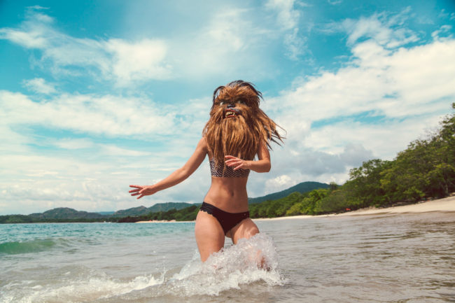 Ocean Air Salty Hair Mako Miyamoto Photography Lifestyle Wookie Star Wars Chewbacca Babe on Oceas Beach