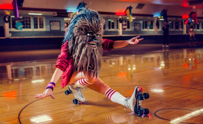 Skate or Die II Photograph by Mako Miyamoto. Wookie skating at an old school roller rink