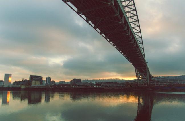 The Bridge by Mako Miyamoto Travel and Lifestyle Photography portland oregon skyline bridge sunset pdx