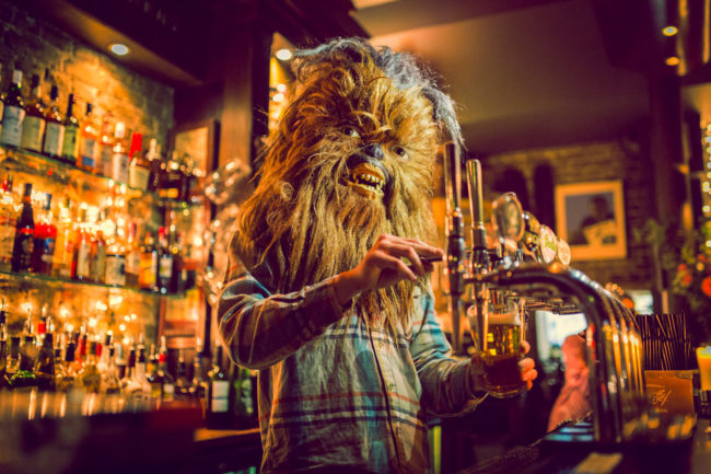 Another One Photograph by Mako Miyamoto. Wookie bartender in London pouring a pint of beer