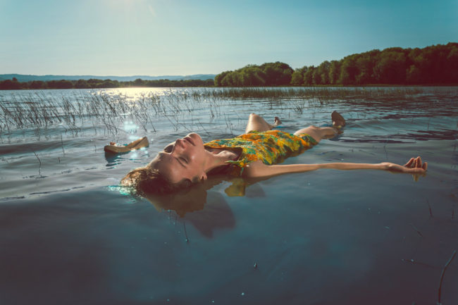 Float by Mako Miyamoto lifestyle photography girl beauty lake floating