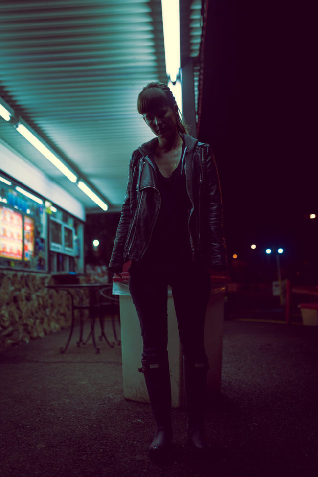 Neon Wasteland by Mako Miyamoto lifestyle photography girl beauty lights sifi future