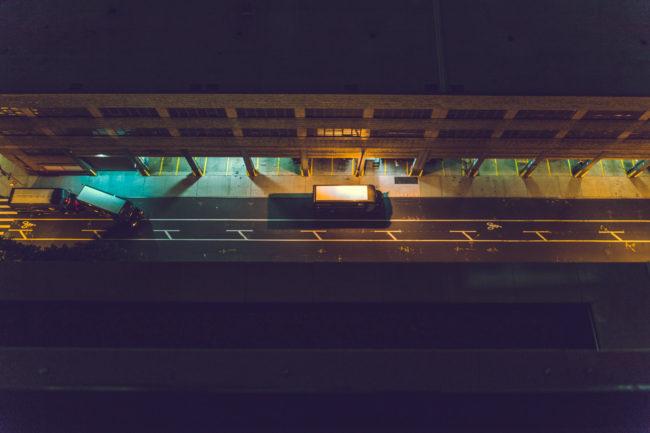 Syndicate by Mako Miyamoto city photography new york night trucks city
